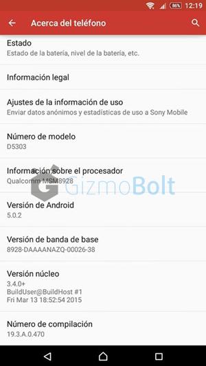 Xperia T2 Ultra D5303 19.3.A.0.470 screenshot