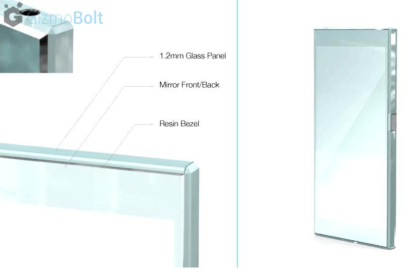Xperia Z4 Metal frame renders