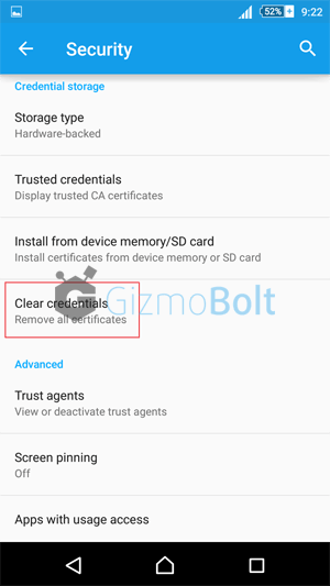 How to fix Xperia Lockscreen disabled by administrator error
