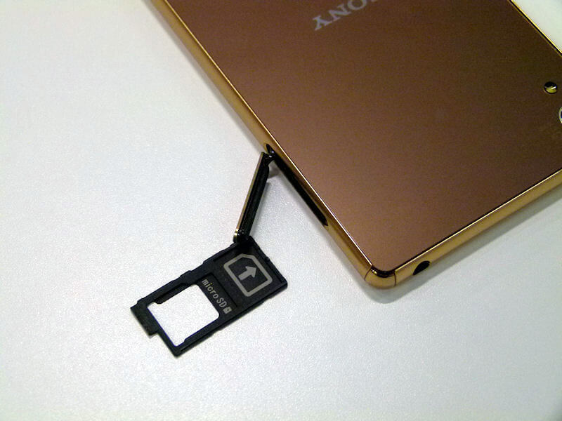 Xperia Z4 micro SD card slot