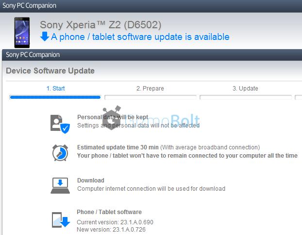 D6502 India Xperia Z2 23.1.A.0.726 update
