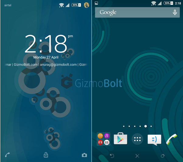 Xperia Lollipop Concentric Blue Theme