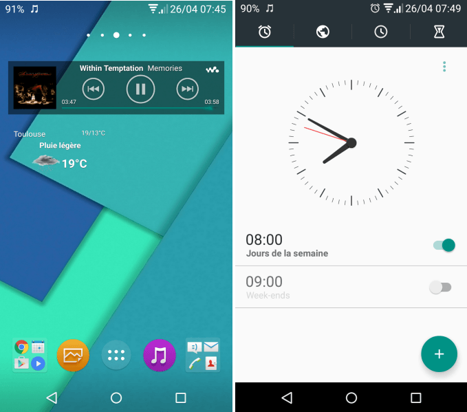 Xperia NR Lollipop Theme