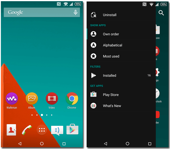 Xperia Stock Lollipop Theme