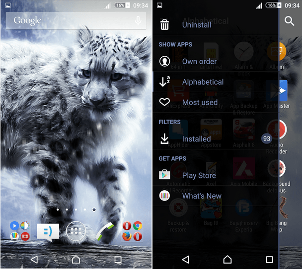 Xperia Snow Leopard Lollipop Theme