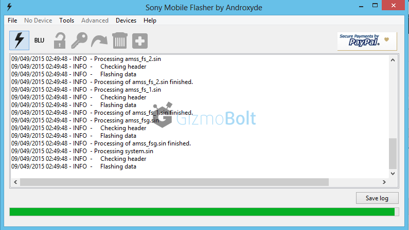 Update Xperia Z2 on 23.1.A.0.690 using Flashtool