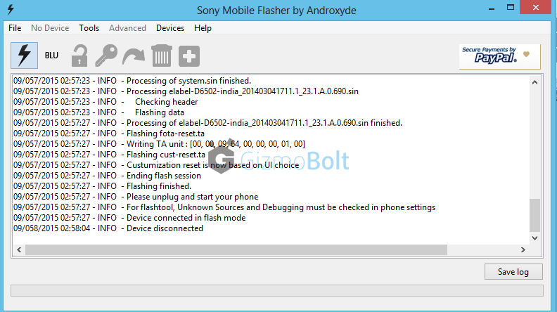 Flash 23.1.A.0.690 ftf on Xperia Z2