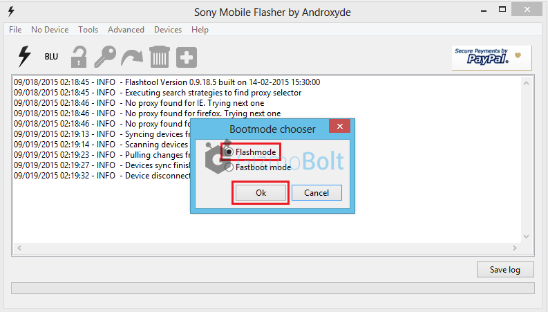 Xperia Z2 Lollipop firmware flashing manually