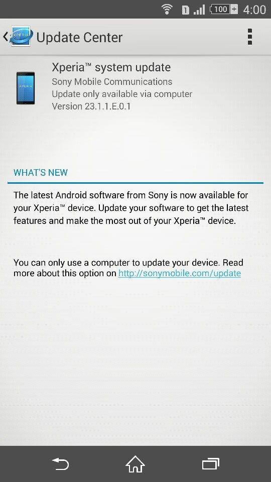 Xperia Z3 Dual 23.1.1.E.0.1 Update