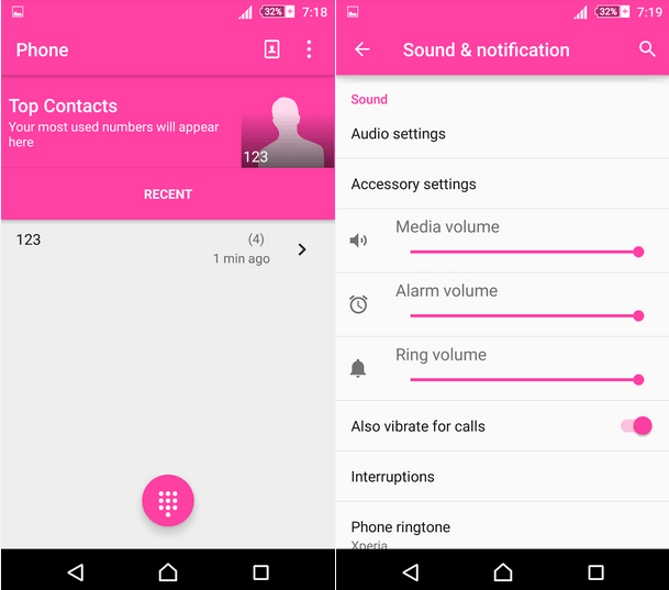 Xperia Lollipop Pink Theme