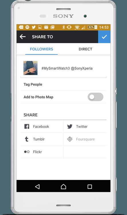 Follow Sony Xperia on Instagram