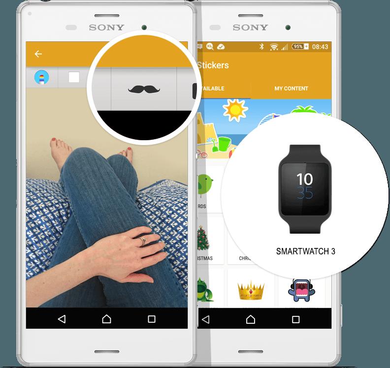 SmartWatch 3 Stickers in Sony Sketch App