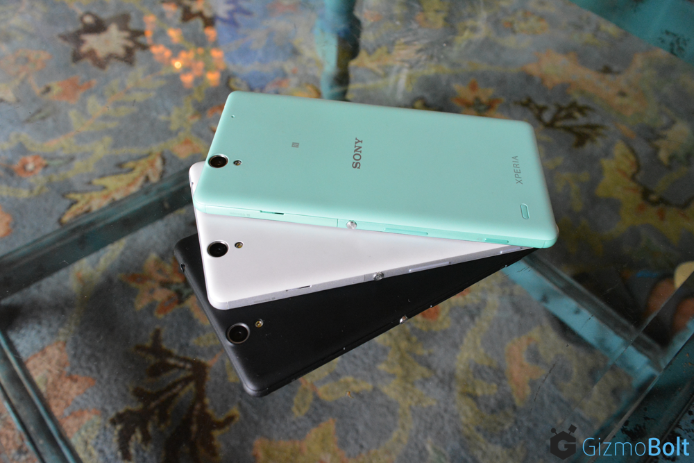 Xperia C4 Dual Mint White Black Color