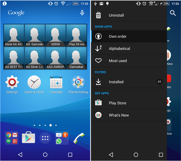 Xperia Z3 Plus Blue Theme