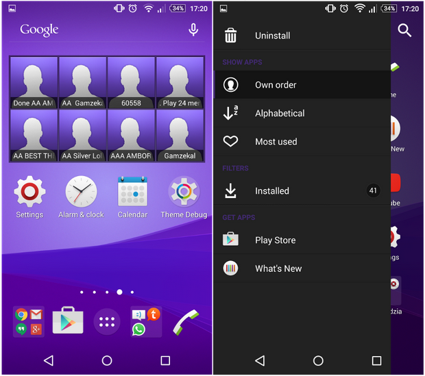 Xperia Z4 Purple Theme
