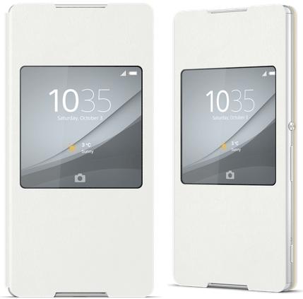 Xperia Z4 Style Cover Window White Theme