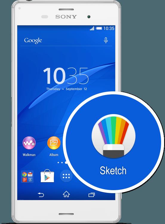 Xperia z3  Sketch app