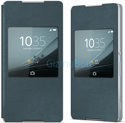 Xperia Z4 Aqua Green Window Style Cover Theme