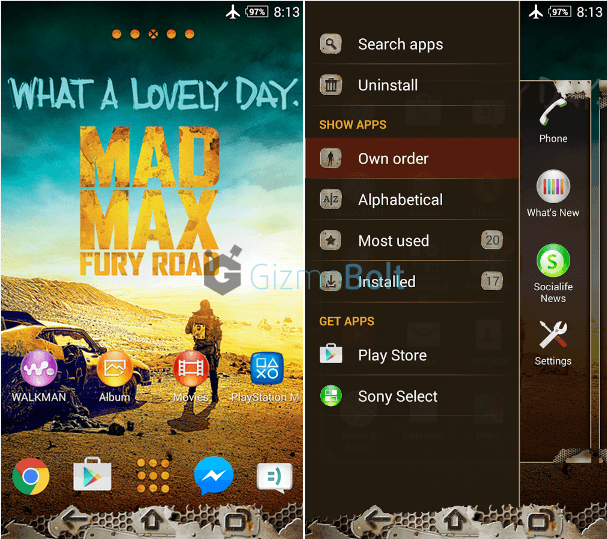 Xperia Mad Max Theme