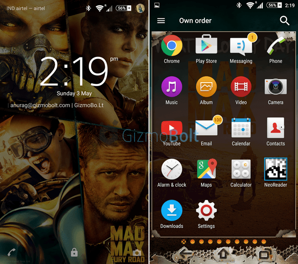 Sony Mad Max Theme for Xperia