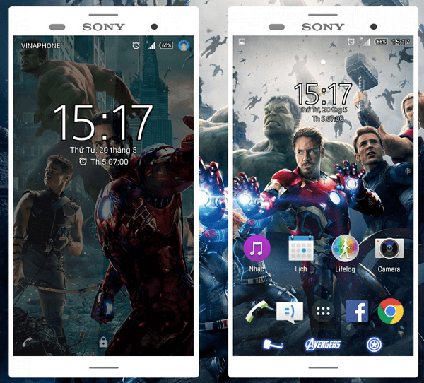 Xperia Avengers & Captain America Theme for Lollipop devices
