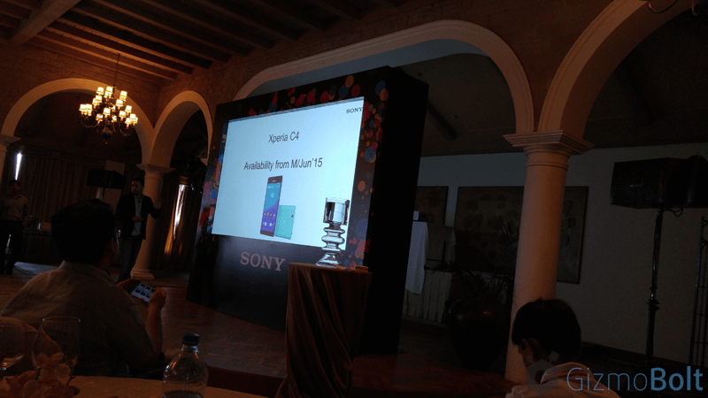 Xperia C4 Dual Release Date in India Mid June 2015