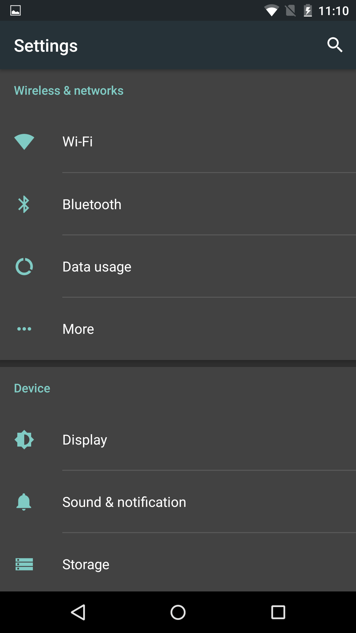 Dark System Theme UI in Android M
