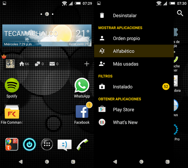 Xperia Black Elegant Yellow Theme