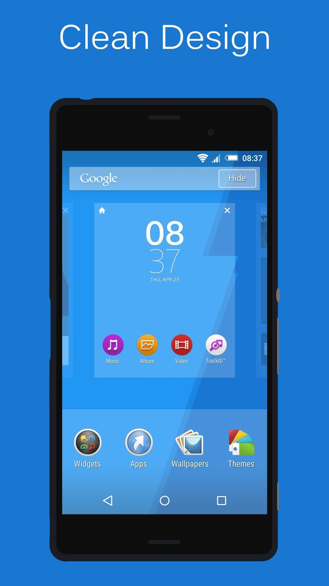 Blue Xperia Lollipop Theme
