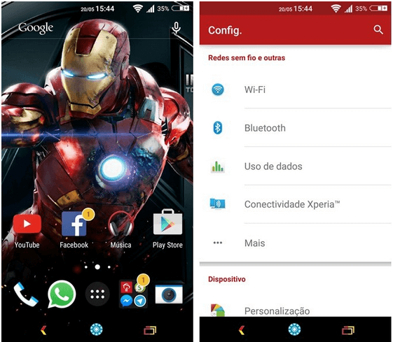 Xperia Iron Man Theme