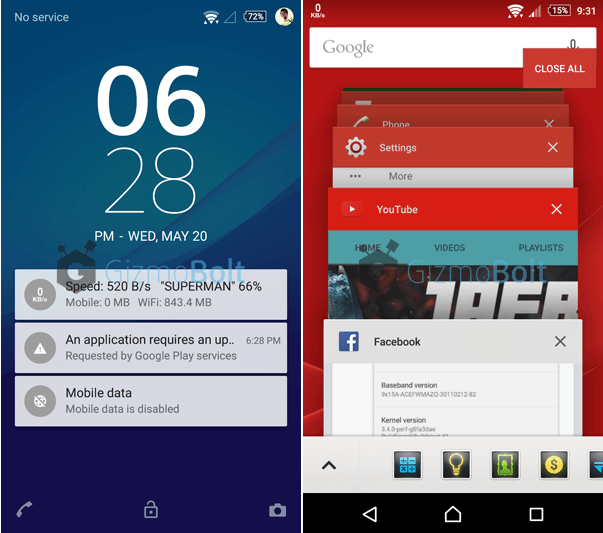 10.6.A.0.454 Lockscreen Xperia Z