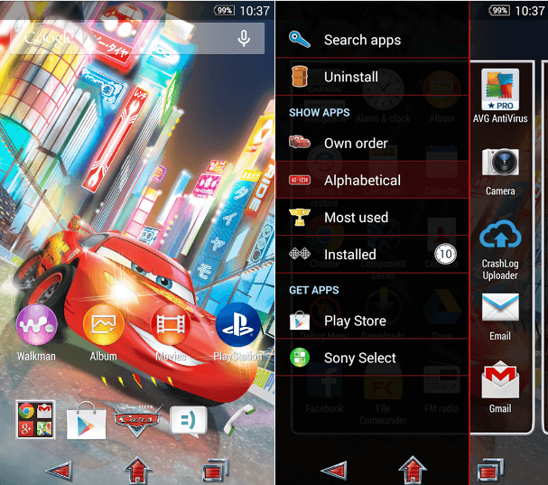 Download Xperia Cars Lightning Theme