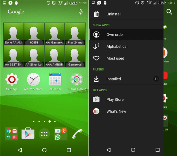 Xperia Z3 Plus Green theme