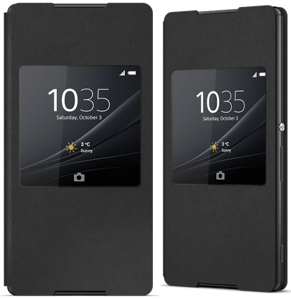 Xperia Z4 Style Cover Window Black Theme