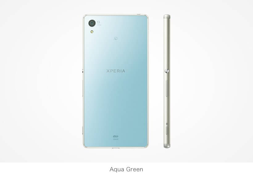Xperia Z4 SOV31 in Aqua Green color