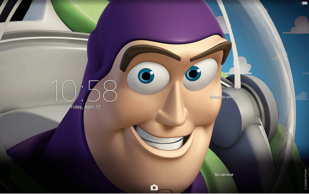 Xperia Toy Story Buzz Theme apk
