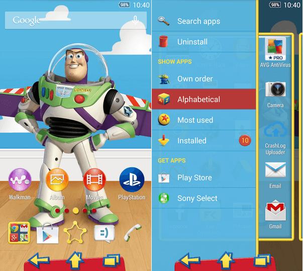 Download Xperia Toy Story Buzz Theme apk