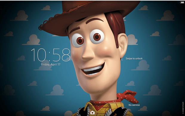 Xperia Toy Story Woddy Theme apk
