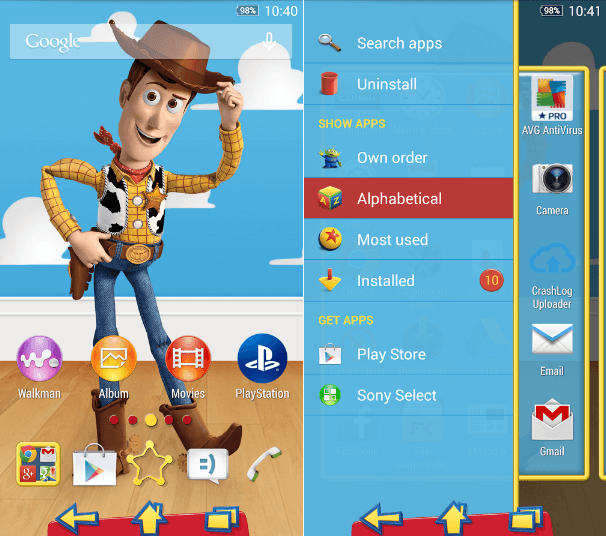 Download Xperia Toy Story Woddy Theme