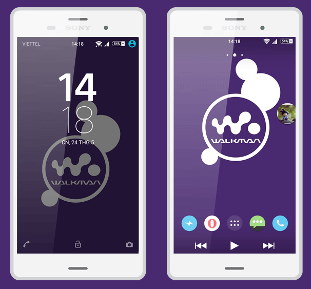 Xperia Lollipop Walkman Theme