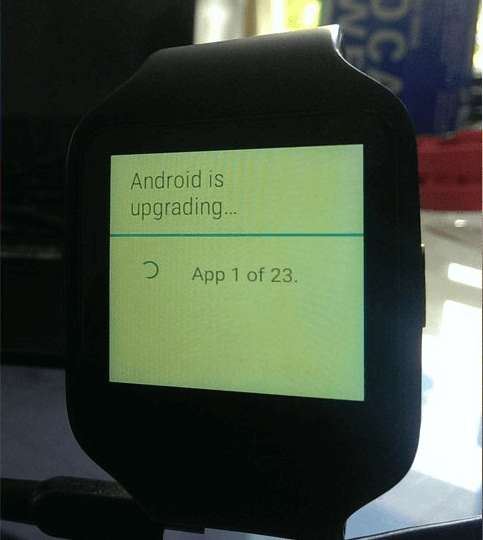 Android 5.1.1 Wear SmartWatch 3 Update
