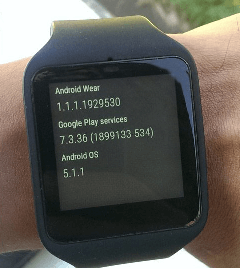 SmartWatch 3 Android Wear 5.1.1 update