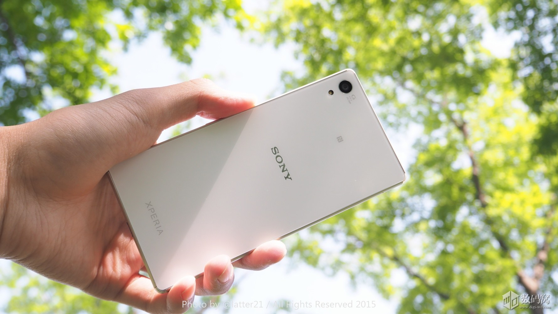 White Xperia Z3+ Rear Side