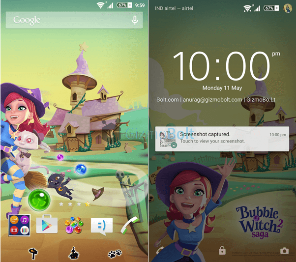 Download Xperia Bubble Witch 2 Theme