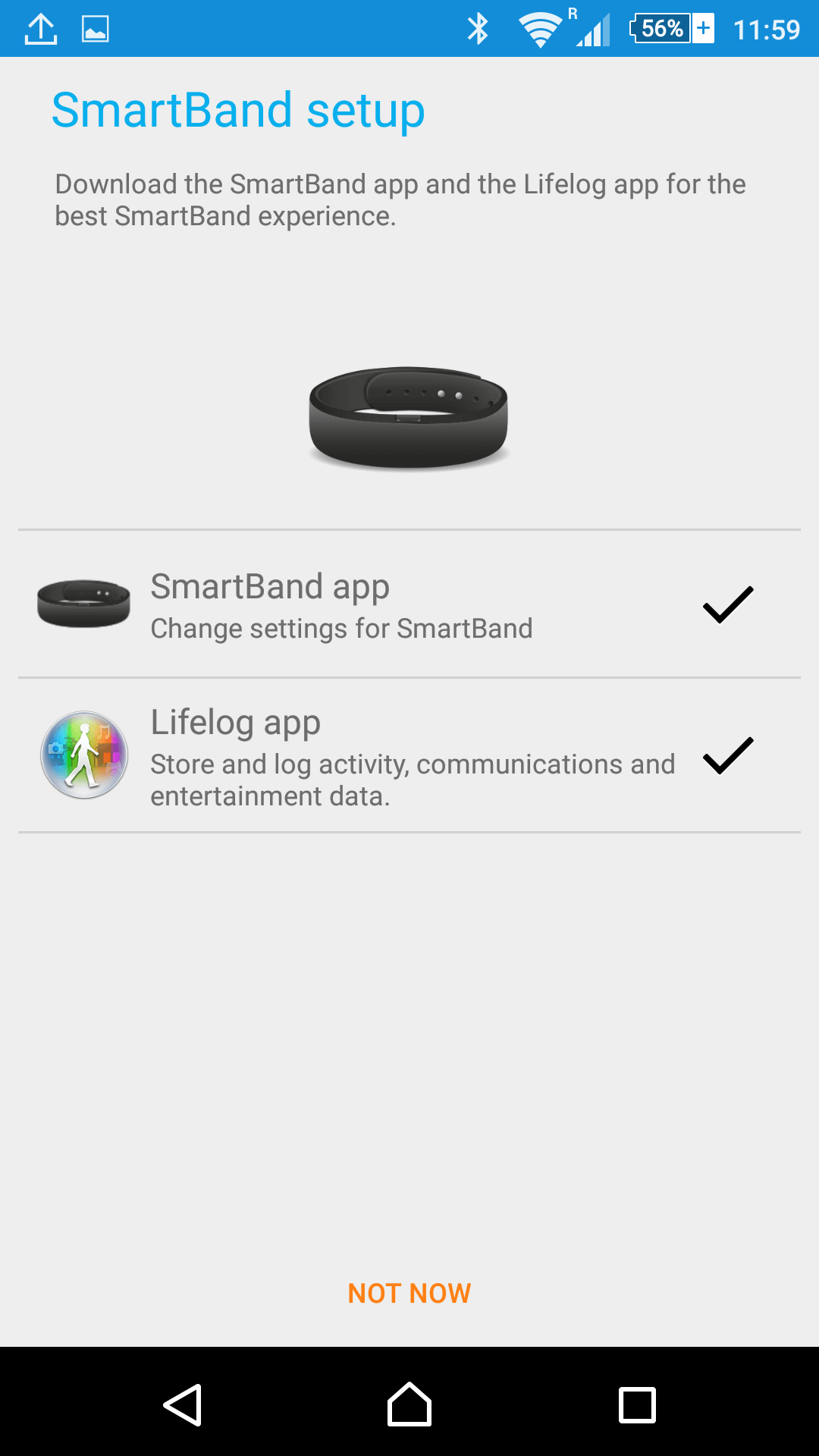 Sony SmartBand SWR10 Lollipop update