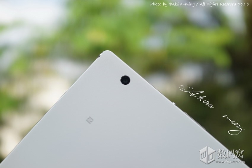 Xperia Z4 Tablet rear camera