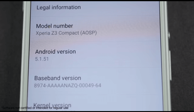 Android M running on Xperia Z3 Compact