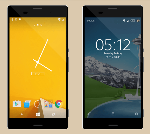 Xperia Windows Theme for Lollipop