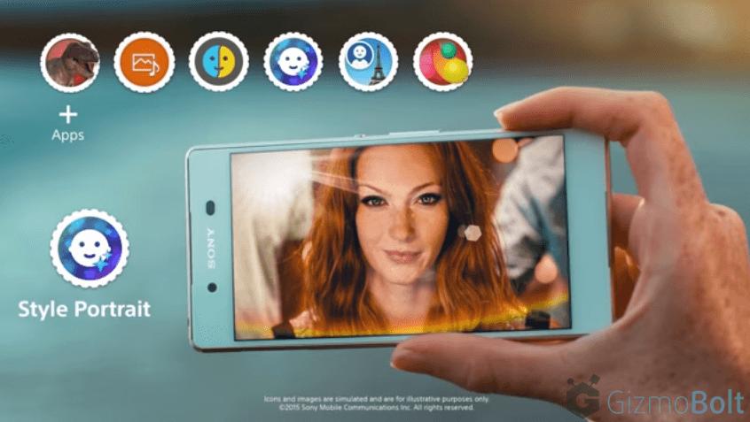 Xperia Z3+ Style Portrait app