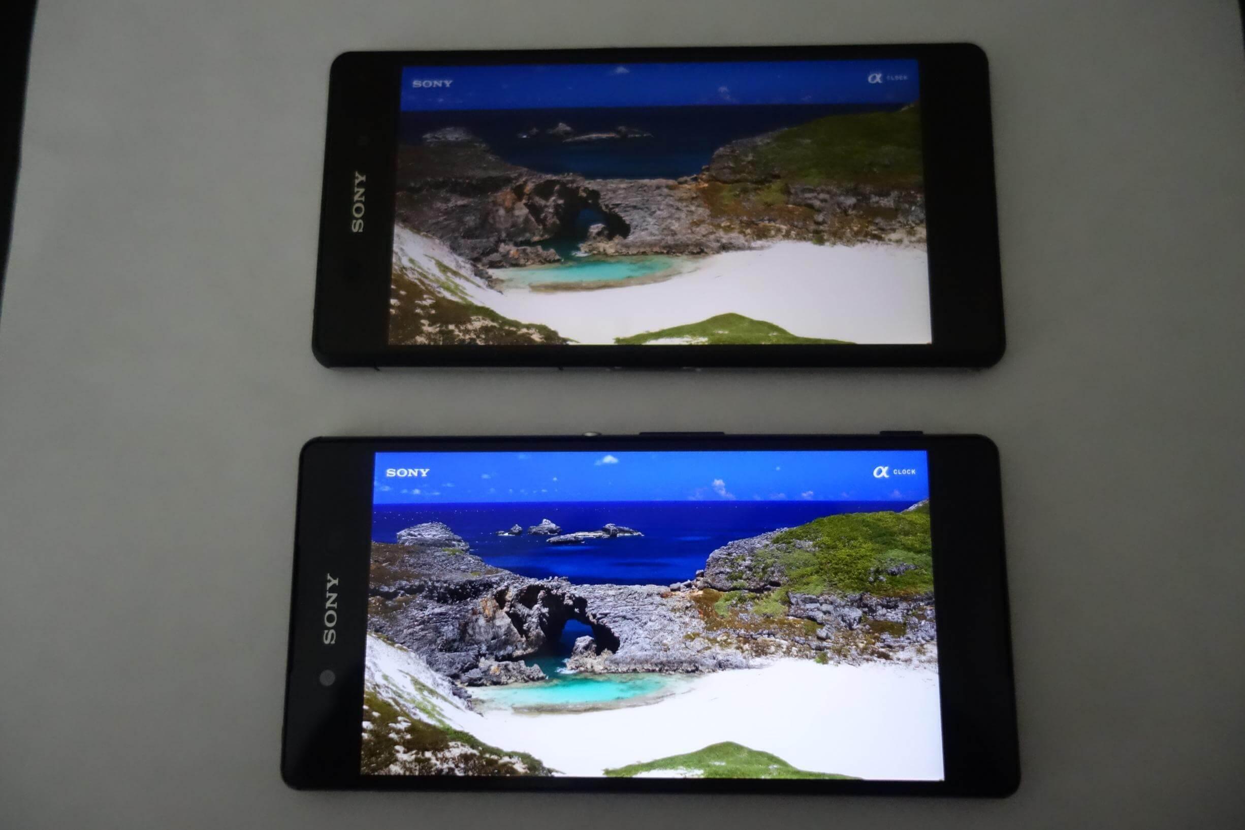 Xperia Z2 vs Xperia Z3+ Display